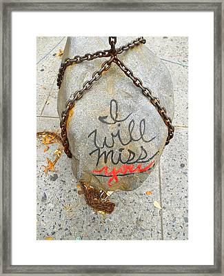 Missing You Framed Print by Joan Reese