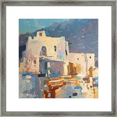 Mission At Sunset Framed Print by Micheal Jones