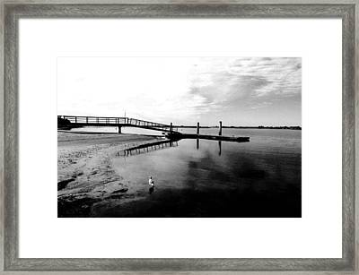 Mission Bay Dock Framed Print