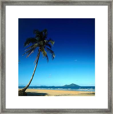 Mission Beach And Dunk Island Framed Print by Dale Boyer