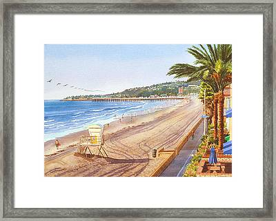 mission beach san diego framed print by mary helmreich
