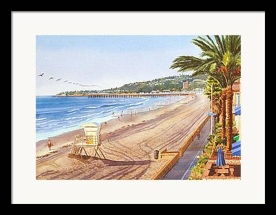 Board Walk Framed Prints