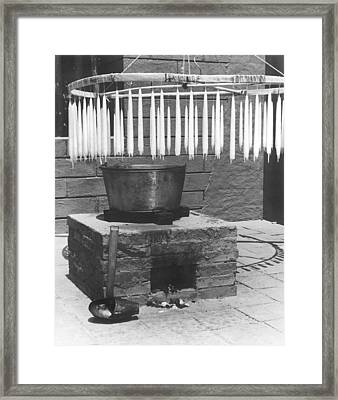 Mission Candle Making Framed Print by Underwood Archives