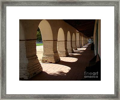 Mission Cloister Framed Print by Eva Kato