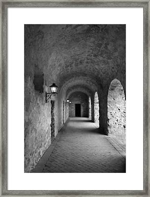 Mission Concepcion Rock Archway Framed Print