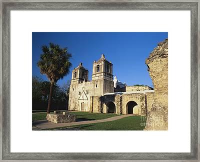 Mission Concepcion, San Antonio, Texas Framed Print by David Davis
