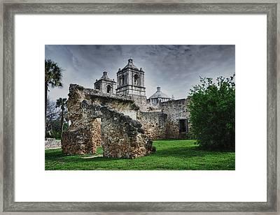 Mission Concepcion San Antonio Texas Framed Print