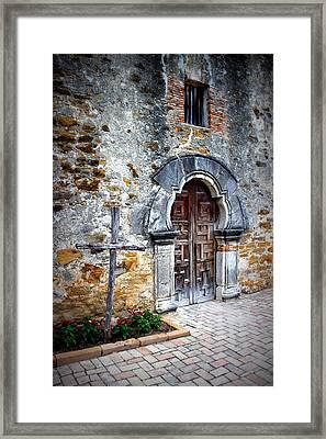 Mission Espada - Doorway Framed Print