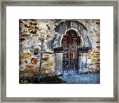 Mission Espada Entrance Framed Print