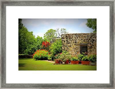 Mission Espada - Garden Framed Print