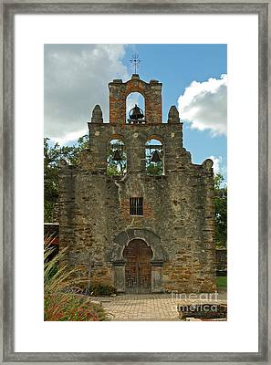 Framed Print featuring the photograph Mission Espada by Olivia Hardwicke