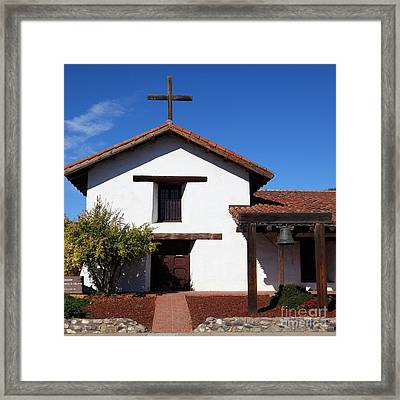 Mission Francisco Solano Downtown Sonoma California 5d19295 Square Framed Print by Wingsdomain Art and Photography