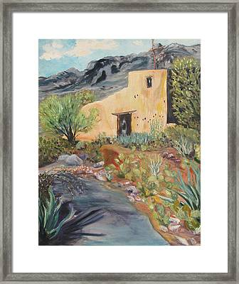 Mission In The Sun Framed Print by Caroline Owen-Doar