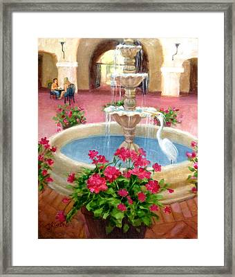 Mission Inn Fountain Framed Print by Janet McGrath