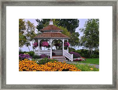 Mission Point Resort Gazebo On Mackinac Island Framed Print