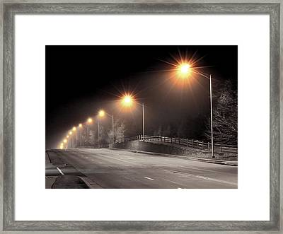 Mission Road Framed Print