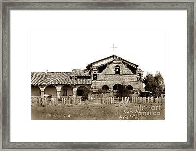 Mission San Antonio De Padua California Circa 1885 Framed Print