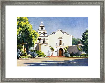 Mission San Diego De Alcala Framed Print by Mary Helmreich