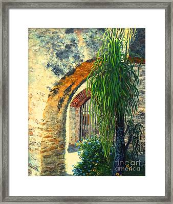 Mission San Jose Framed Print by Beverly Theriault