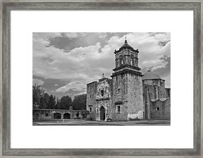 Mission San Jose Bw Framed Print