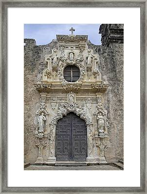 Mission San Jose Doorway Framed Print