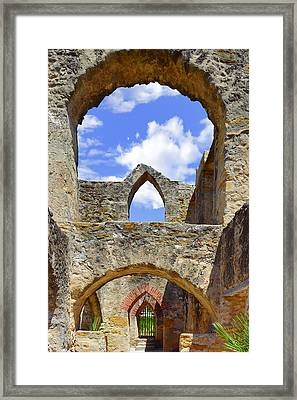 Mission San Jose In San Antonio Framed Print by Christine Till