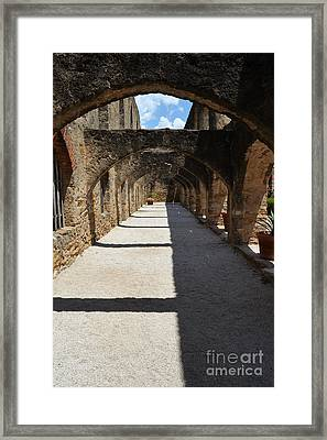 Mission San Jose Promenade Arches In San Antonio Missions National Historical Park Vertical Framed Print