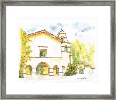 Mission San Juan Bautista - California Framed Print