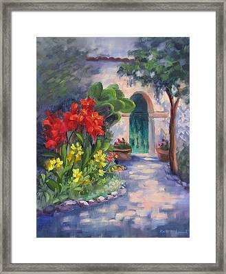 Mission San Juan Bautista Cana Lilies  Framed Print