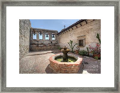 Framed Print featuring the photograph Mission Bells San Juan Capistrano by Martin Konopacki