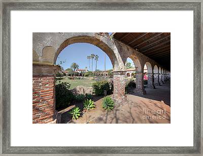 Framed Print featuring the photograph Mission San Juan Capistrano by Martin Konopacki