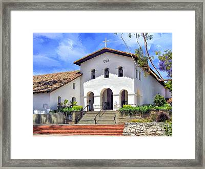 Mission San Luis Obispo De Tolosa Framed Print by Dominic Piperata