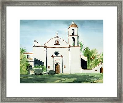 Mission San Luis Rey Colorful II Framed Print by Kip DeVore