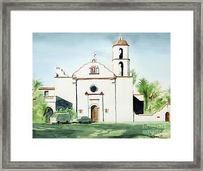 Mission San Luis Rey  Framed Print by Kip DeVore