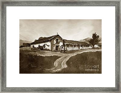 Mission San Rafael California  Circa 1880 Framed Print by California Views Mr Pat Hathaway Archives