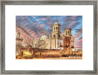 Mission San Xavier Del Bac 2 Framed Print by Bob Christopher