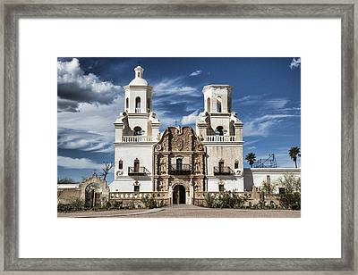 Mission San Xavier Del Bac Framed Print by Stephen Stookey