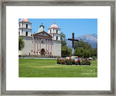Mission Santa Barbara Framed Print by Methune Hively