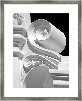 Mission Shapes And Shadows - Shades Of Grey Framed Print by Douglas Taylor
