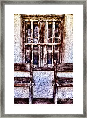 Mission Soledad Window Seating By Diana Sainz Framed Print
