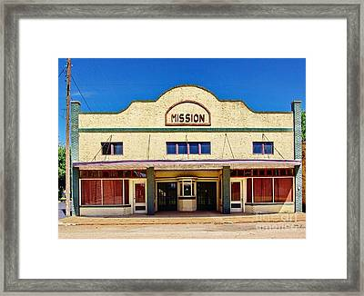 Mission Theater Framed Print by Gary Richards