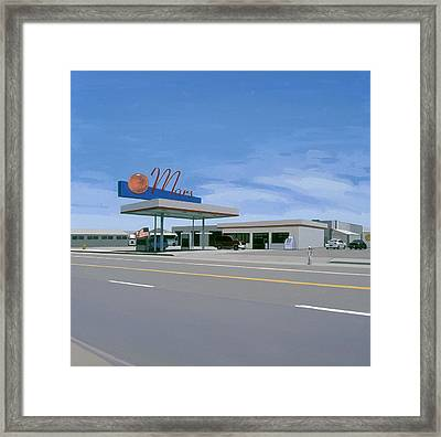 Framed Print featuring the painting Mission To Mars by Scott Listfield