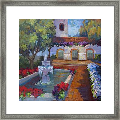 Mission Via Dolorosa Framed Print by Diane McClary