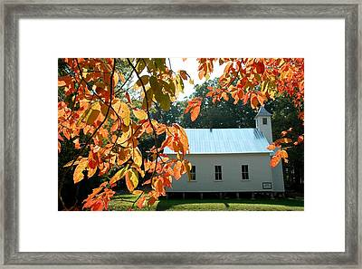 Missionary Baptist Church Autumn Afternoon Framed Print by John Saunders