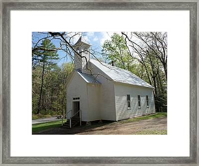 Missionary Baptist Church In Cades Cove Framed Print by Roger Potts