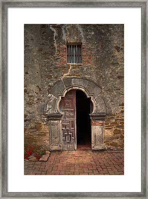 Missions Of San Antonio Framed Print by Cindy Rubin