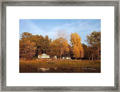 Missisquoi Bay Camps Framed Print