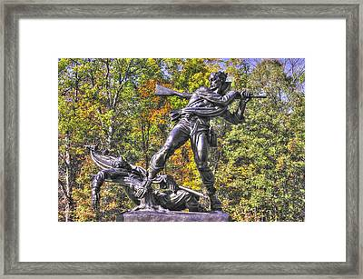 Mississippi At Gettysburg - Defending The Fallen Colors No. 1 Framed Print by Michael Mazaika
