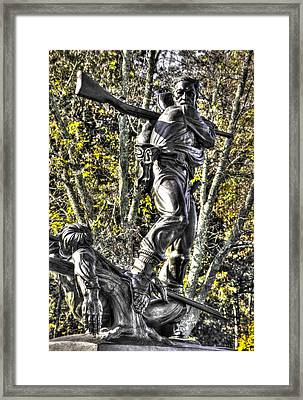 Mississippi At Gettysburg - Defending The Fallen Colors No. 2 Framed Print by Michael Mazaika