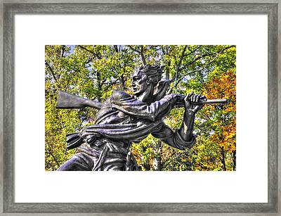 Mississippi At Gettysburg - Desperate Hand-to-hand Fighting No. 1 Framed Print by Michael Mazaika
